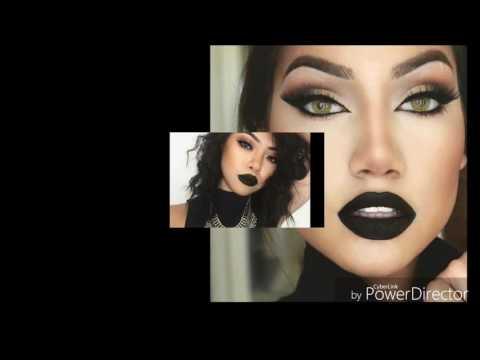 Labios Negros /lipstick Black  Nueva tendencia