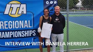 Thresher Tennis Interview: Daniela Herrera & Coach Gabe Johnson