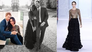 Meghan stuns in £56,000 Ralph & Russo dress for engagement photos