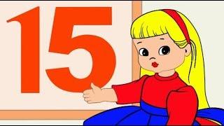 Учим цифры. Учимся считать до 20. Развивающий мультфильм для детей от 1 года.
