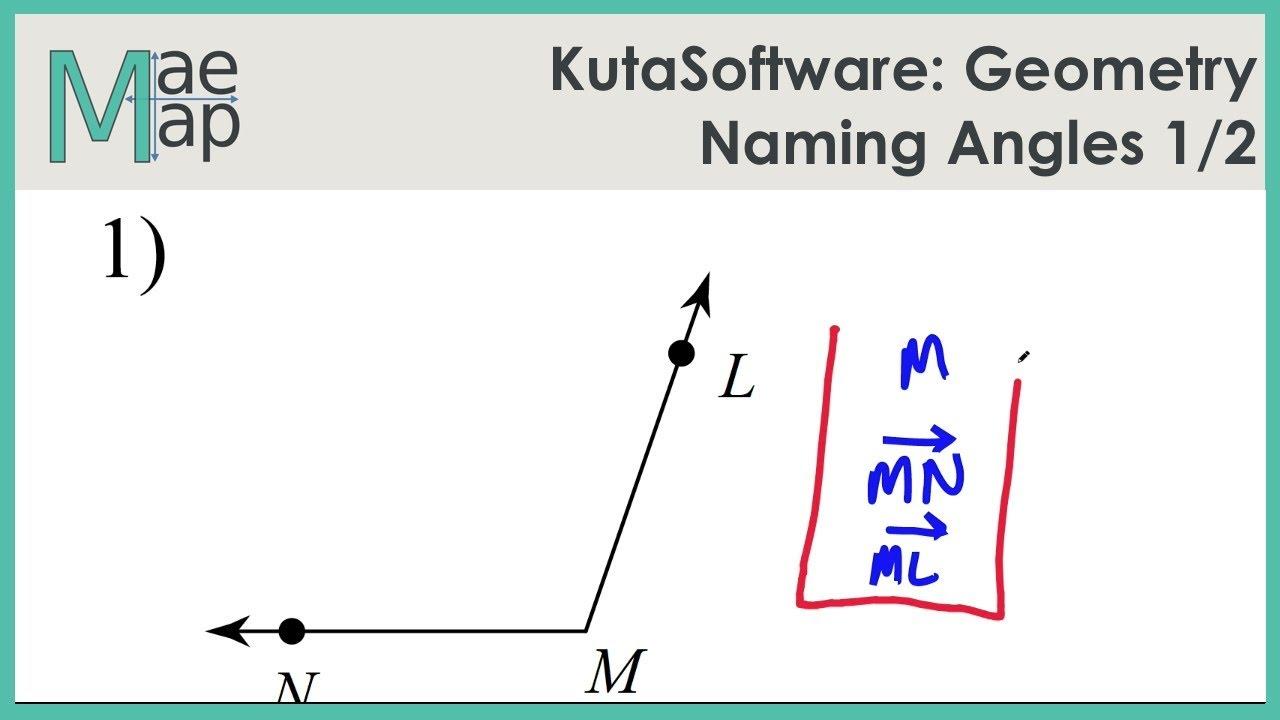worksheet Naming Angles kutasoftware geometry naming angles part 1 youtube 1