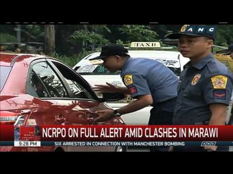 Metro Manila cops on full alert amid clashes in Marawi