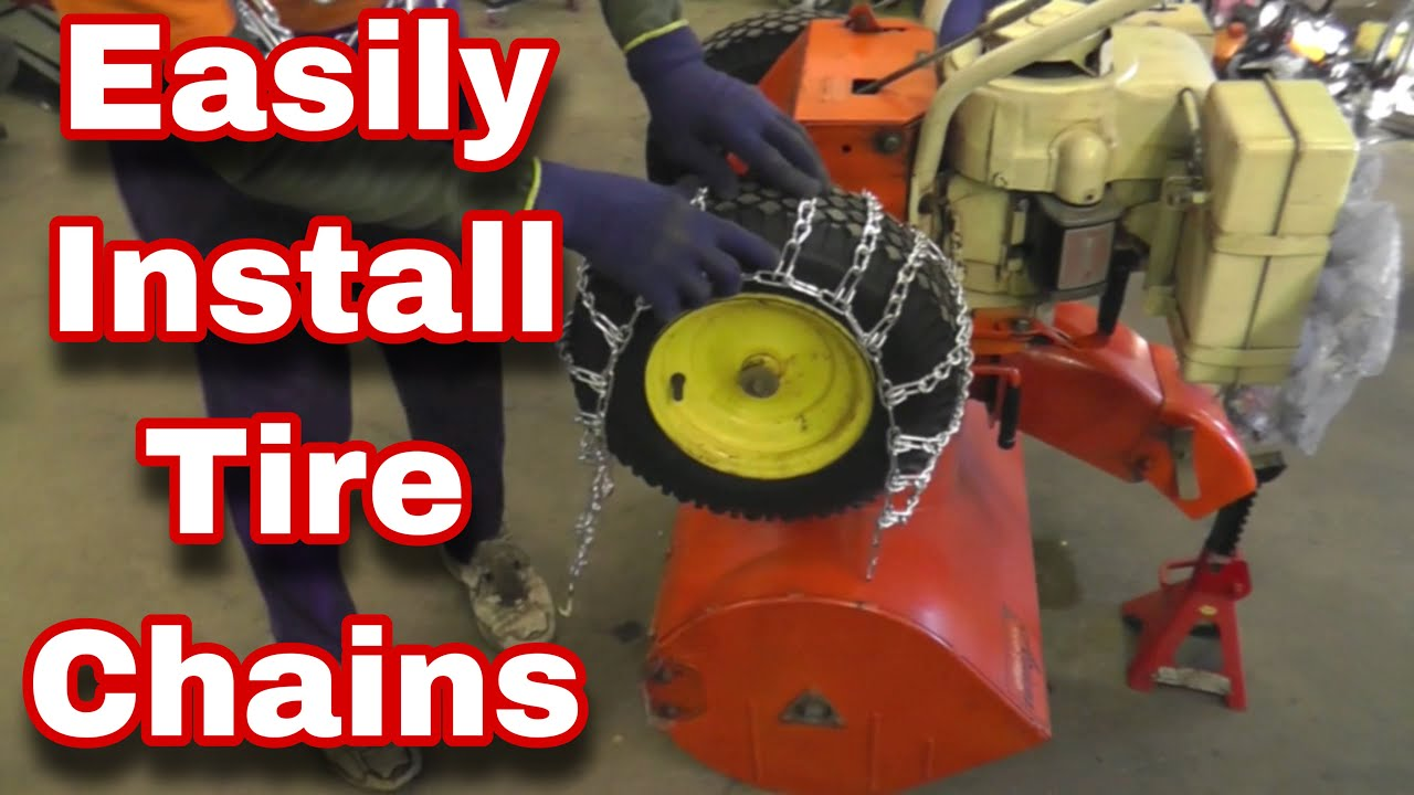 how to simply install tire chains on a snowblower and more with taryl funnycat tv. Black Bedroom Furniture Sets. Home Design Ideas