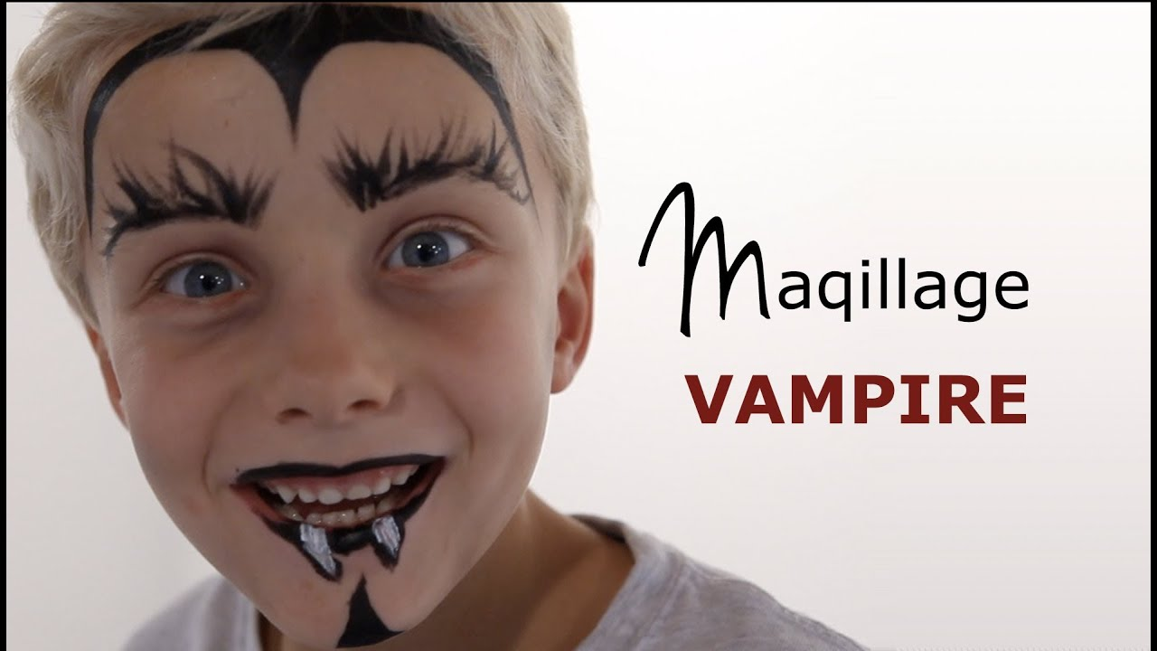 Maquillage vampire tutoriel maquillage enfant facile youtube - Maquillage halloween facile garcon ...