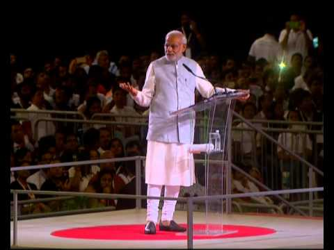 PM Modi at an interaction with Indian Community in Singapore