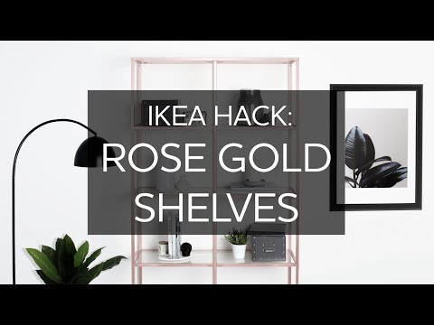 How To Create Rose Gold Metallic Shelving- IKEA hack