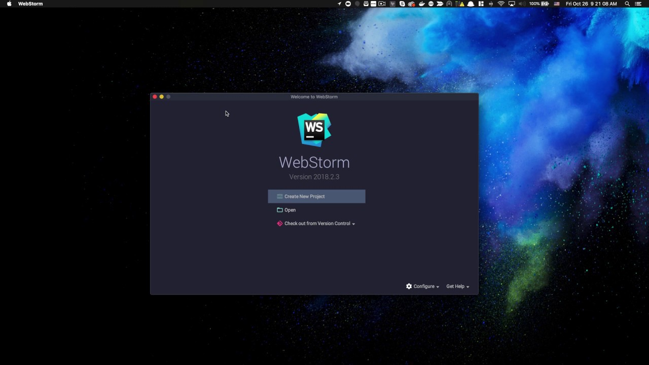 Angular 7: Generate New Project using WebStorm