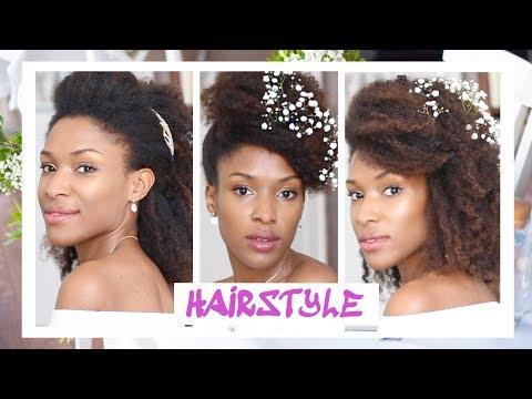 Mariage 3 3 3 Coiffures Simples Cheveux Naturel Crepus 3