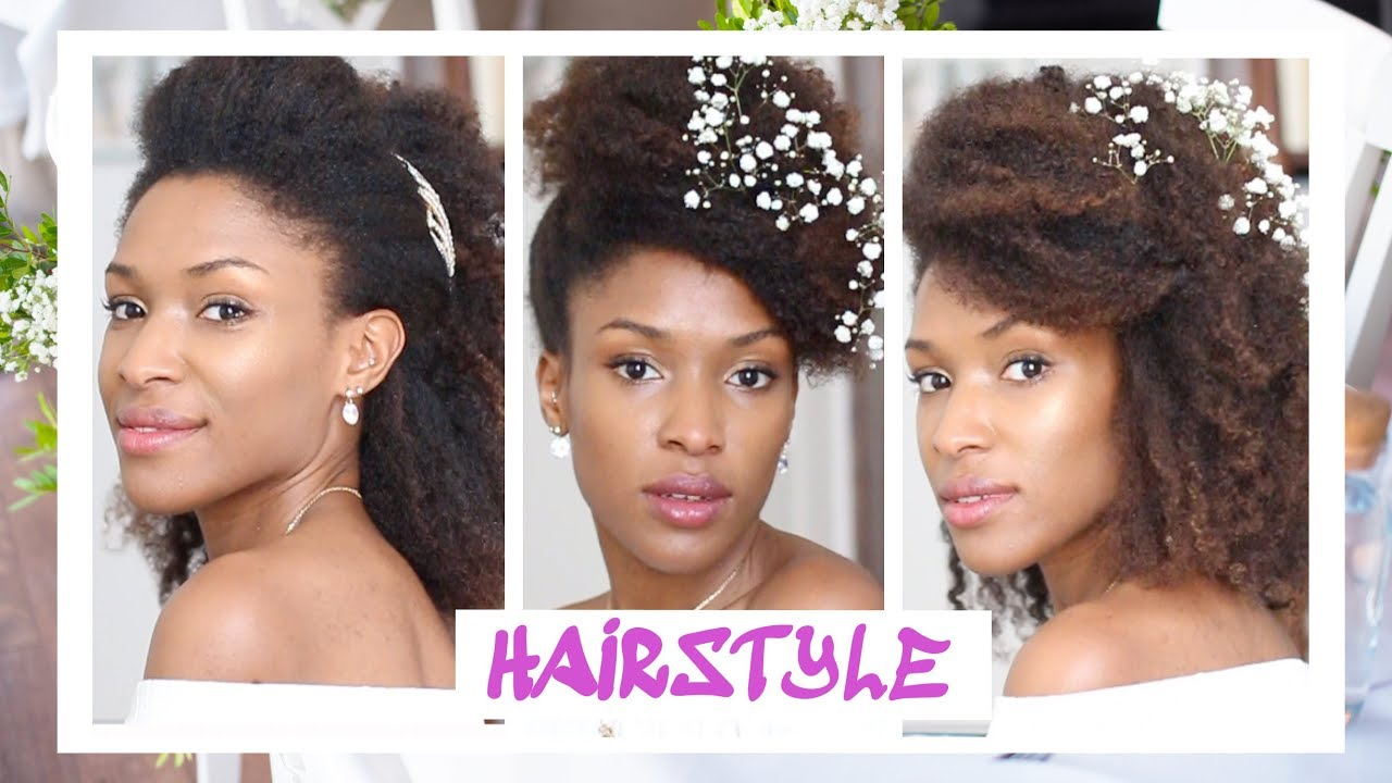 Mariage 3 3 3 Coiffures Simples Cheveux Naturel Crepus 3 Wedding Natural Hair Styles