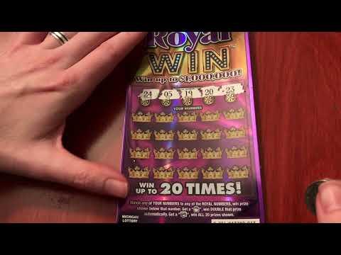 New $10 Royal Win - Michigan Lottery - 4/8/18