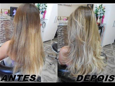 Ombre Hair Na Touca A Vacuo Youtube