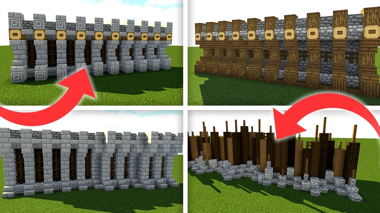5 Simple Medieval Wall Designs For Minecraft 1  14