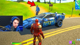 Stealing *YOUTUBERS* Cars in Fortnite
