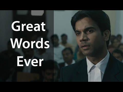 Rajkummar Rao Best Dialogue ever in Bollywood for all Mankind - Movie scene Shahid 2012