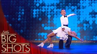 Sweetest Little Dance Duo Entertain Us With A Jazzy Ballroom Performance | Little Big Shots