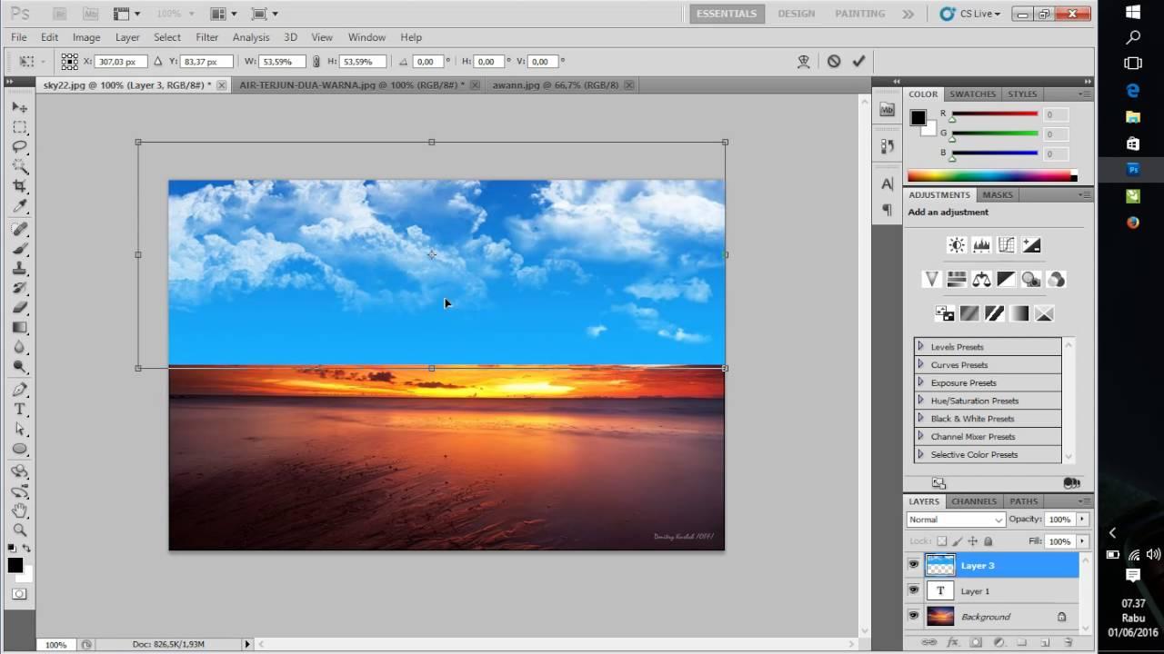 Tutorial Photoshop, # Cara Menggabungkan dua gambar di ...