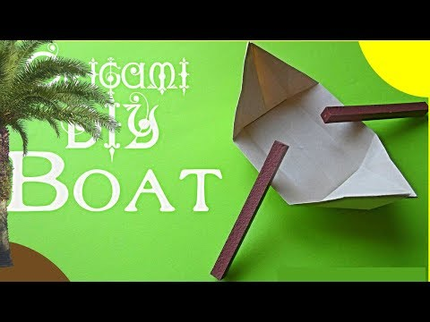 DIY Origami Boat step by step. How to Make a Paper Boats for kids easy. Canoe Tutorial