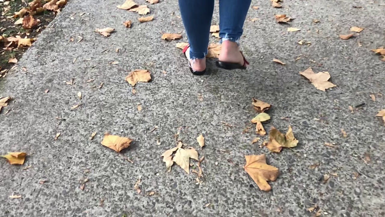 Slow Motion walking rough feet
