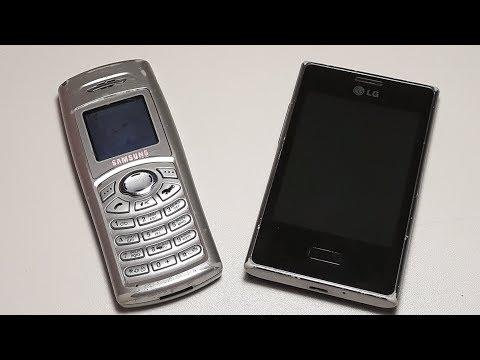 Посылка от подписчика Руслана с Днепра. Старенький Samsung C100 и сенсорный LG