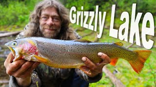 Catching Big Trout At Grizzly Lake - Day 12 & 13 of 30 Day Survival Challenge Canadian Rockies