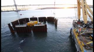 Queensferry Crossing - Centre Tower - Cofferdam Placement- 2013