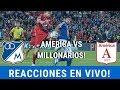 REACCIONES EN VIVO⚽ [America Vs Millonarios] Liga Aguila - Austin - Fecha 17 - Fpc