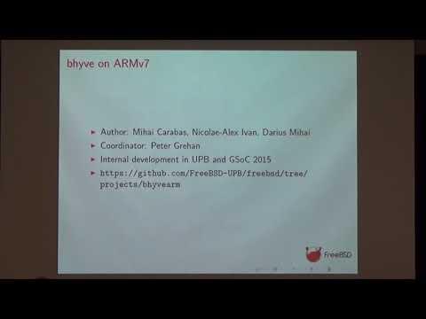 bhyve WIP: suspend and resume, ARMv8 Update