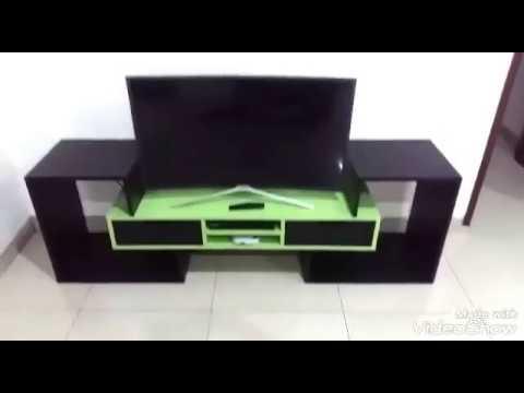 Membuat Meja Tv Tv Stand Minimalis Keren Youtube