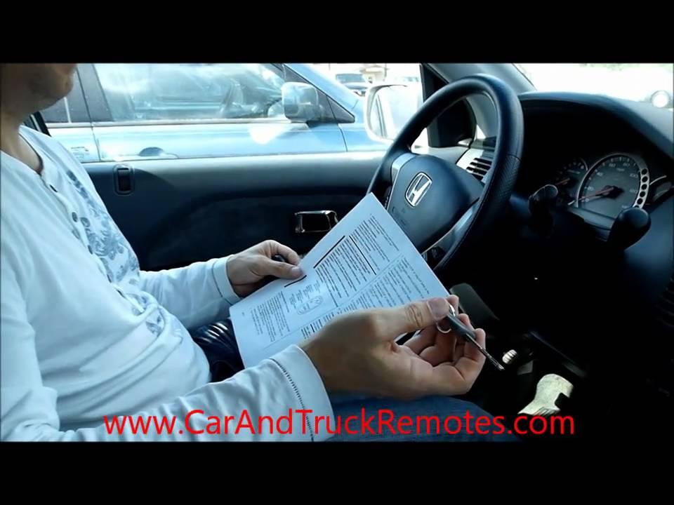 Honda Keyless Entry Remote Programming Odyssey Civic Accord Element