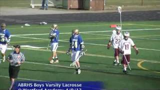 Acton Boxborough Varsity Boys Lacrosse @ Westford 4/9/13