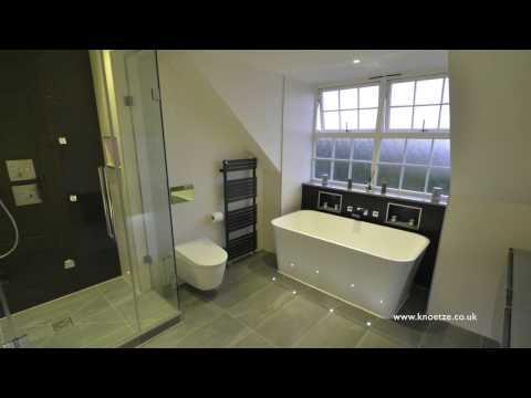 Knoetze - Bathroom installers - Steam Room with mood lights freestanding bath and TV with at toto wc