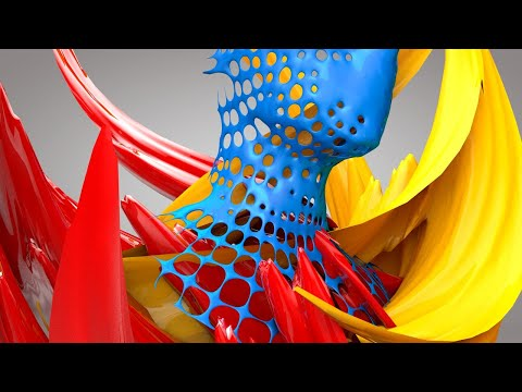Cinema 4D Tutorial - Abstract Shape Animation thumbnail