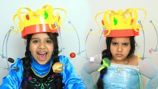السا ضد انا ! تحدي الاكل الطائر ! ! elsa vs anna ! chow crown challenge