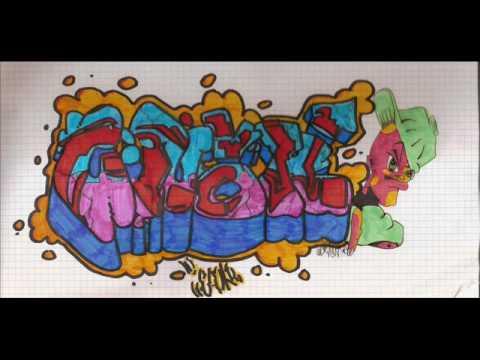 Graffitis en papel esok youtube - Graffitis en papel ...