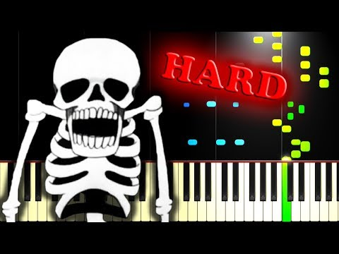 SPOOKY SCARY SKELETONS - Piano Tutorial