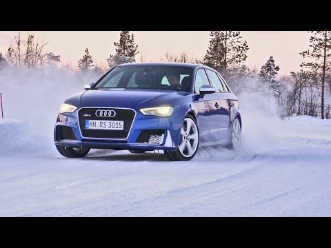 Audi RS3 (2015) Test Drive on Snow [YOUCAR]
