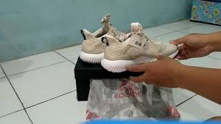 322f93e1a ดาวน์โหลดเพลง Unboxing  Review Adidas Alpha Bounce Reflective Hpc ...