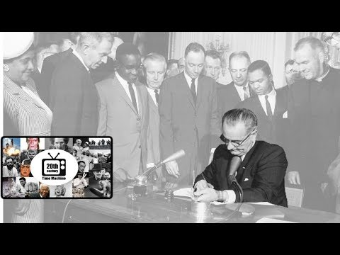 LBJ Signing the Civil Rights Act in 1964