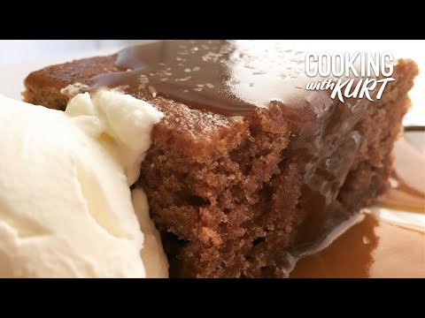 Sponge Cake Covered In Toffee Sauce - Sticky Toffee Pudding! | Cooking with Kurt (British Accent)