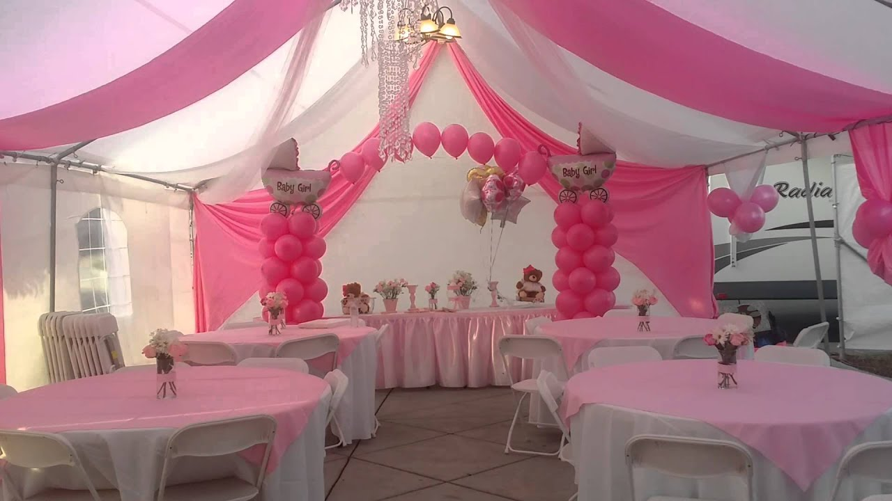 Decoracion De Baby Shower Pink Youtube
