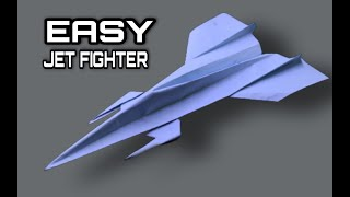 Origami Plane - How To Make Paper Airplane - Best Paper Jet Fighter Is Cool | Origami Paper