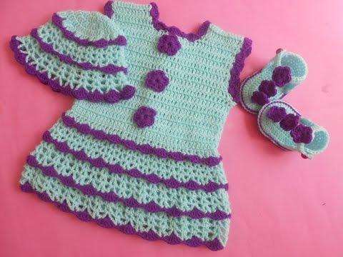 Crochet Crosia How To Make Crochet Baby Dress Youtube