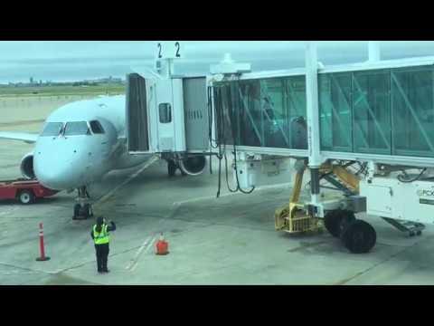 Full Flight American Eagle EMB 145 Amarillo to Dallas