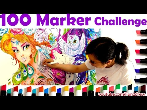 Art Challenge: Color with 100 Markers!