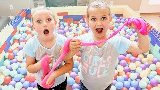 GIANT LEGO Ball Pit filled with SLIME!