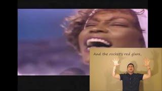 Whitney Houston - Star Spangled Banner (National Anthem) ASL