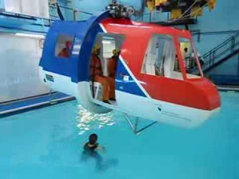 Offshore helicopter underwater escape training CPUT - YouTube