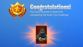 ROAD TRIP CHALLENGE COMPLETED! *ENFORCER SKIN* UNLOCKED IN FORTNITE