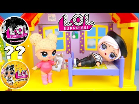Fake LOL Bedtime Sleepover Party with LOL Series 3 Wave 2 Beatnik Babe