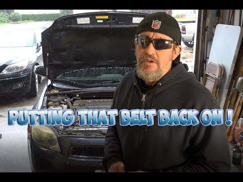 Putting Belt Back On After Alternator Install 06 Scion TC - YouTube